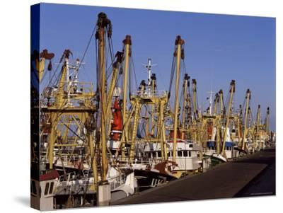 Fishing Fleet, Den Helder, Holland-I Vanderharst-Stretched Canvas Print