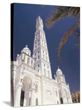 Al Mindhar Mosque, Tarim, Yemen, Middle East-Doug Traverso-Stretched Canvas Print