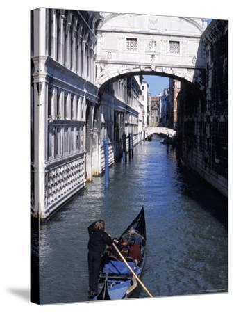 Bridge of Sighs, Venice, Veneto, Italy-Guy Thouvenin-Stretched Canvas Print