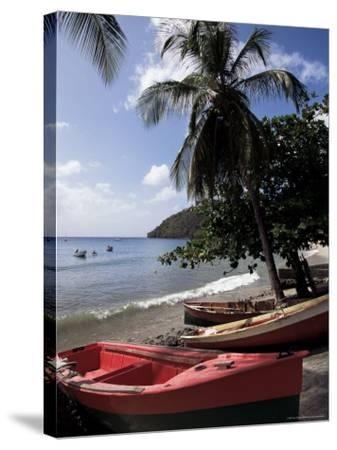 Beach, Les Salines, Martinique, French Antilles, West Indies, Central America-Guy Thouvenin-Stretched Canvas Print