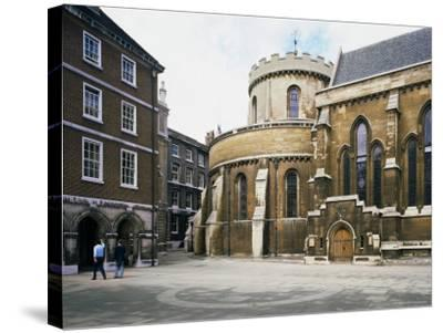 The Temple Church, Built Between 1185 and 1240, Fleet Street, London, England-Loraine Wilson-Stretched Canvas Print