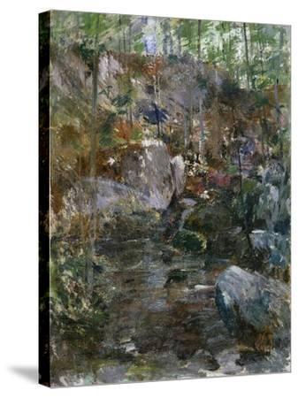Woodland Stream-Eug?ne Boudin-Stretched Canvas Print