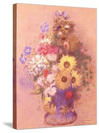 Vase of Flowers-Mary Cassatt-Stretched Canvas Print