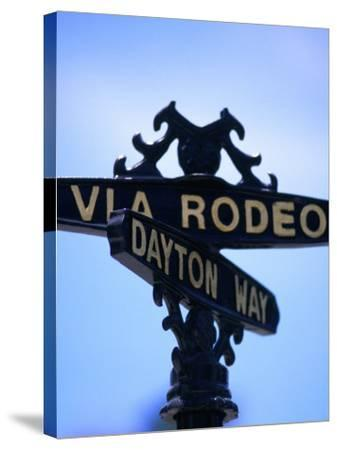 Rodeo Drive and Dayton Way in Beverly Hills, Los Angeles, California-Ray Laskowitz-Stretched Canvas Print