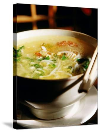 Across the Bridge Noodles at Brothers Jiang Restaurant, Kunming, Yunnan, China-Greg Elms-Stretched Canvas Print