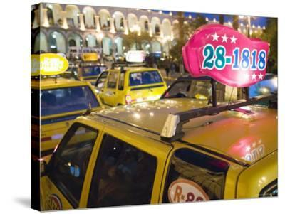 Taxi Cab Jam in Plaza de Armas, Arequipa, Peru-Brent Winebrenner-Stretched Canvas Print