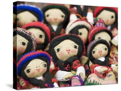 Close-Up of Bolivian Dolls for Sale, La Paz, Bolivia-Brent Winebrenner-Stretched Canvas Print