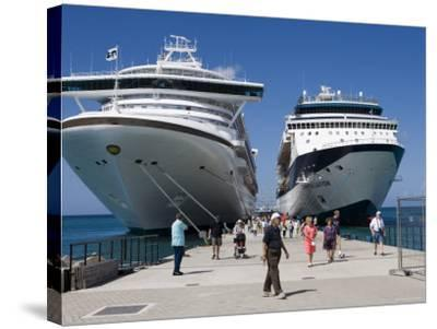 Cruise Ships Golden Princess and Constellation, St. George's, Grenada-Holger Leue-Stretched Canvas Print