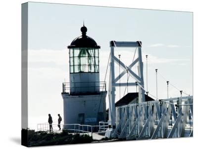 Pt Bonita Lighthouse at Marin Headlands, Marin County, California-John Elk III-Stretched Canvas Print