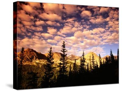 Peaks and Sky from Diamond Lake Trail, Indian Peaks Wilderness, Colorado-Witold Skrypczak-Stretched Canvas Print
