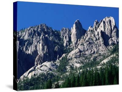 Castle Crags from South, California-John Elk III-Stretched Canvas Print