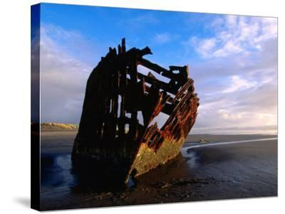 Wreck of Peter Iredale, Oregon-John Elk III-Stretched Canvas Print