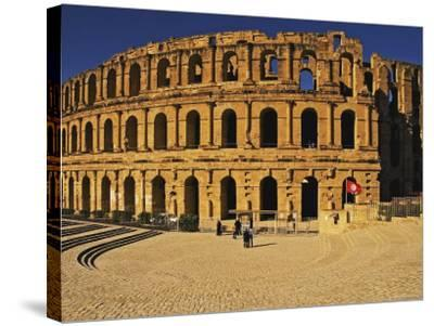 South Side of Roman Colosseum, El-Jem, Mahdia, Tunisia-Bethune Carmichael-Stretched Canvas Print