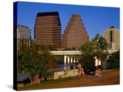 Relaxing in Butler Park East in Downtown Austin, Texas-Richard Cummins-Stretched Canvas Print