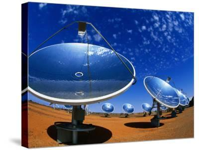 Solar Dishes, White Cliffs, New South Wales, Australia-Christopher Groenhout-Stretched Canvas Print