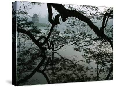 Tortoise Tower in Hoan Kiem Lake Has Become Symbol for Hanoi, Hanoi, Vietnam-Stu Smucker-Stretched Canvas Print