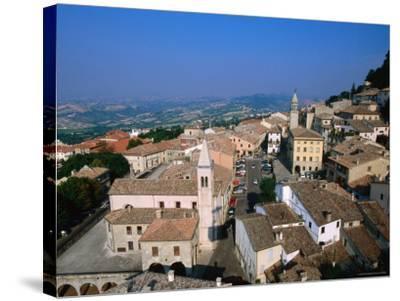 Buildings of Lower Town, San Marino, San Marino-John Elk III-Stretched Canvas Print