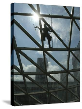 Roof Cleaning, Warsaw, Poland--Stretched Canvas Print