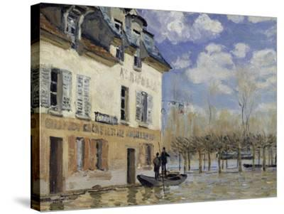 La Barque During the Flood at Port-Marly, c.1876-Alfred Sisley-Stretched Canvas Print