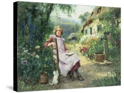 In the Garden-Henry John Yeend King-Stretched Canvas Print