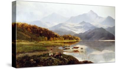 Lakeside Gathering-Henry John Boddington-Stretched Canvas Print