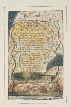 Songs of Innocence-William Blake-Stretched Canvas Print