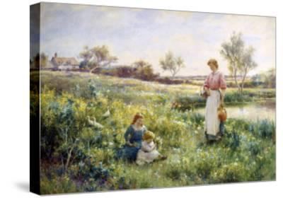 Golden Hours-Alfred Augustus Glendenning-Stretched Canvas Print