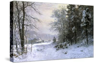 Late Lies the Winter Sun-Anders Andersen-Lundby-Stretched Canvas Print