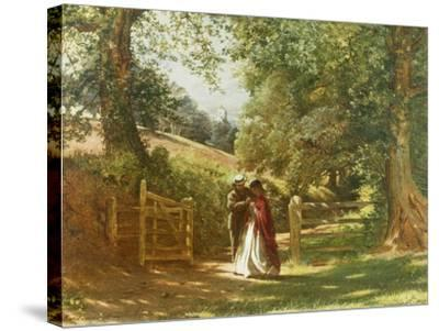 The Lovers' Tryst-Richard Redgrave-Stretched Canvas Print