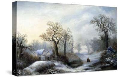 Glistening Winter's Eve-William Stone-Stretched Canvas Print