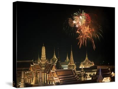 Emerald Palace During Commemoration of King Bumiphol's 50th Anniversary, Thailand-Russell Gordon-Stretched Canvas Print