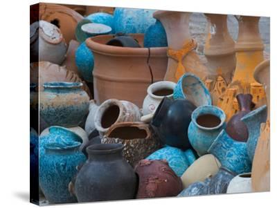 Pottery on the Street in Cappadoccia, Turkey-Darrell Gulin-Stretched Canvas Print