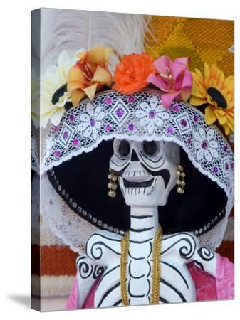 Skeleton on Day of the Dead Festival, San Miguel De Allende, Mexico-Nancy Rotenberg-Stretched Canvas Print