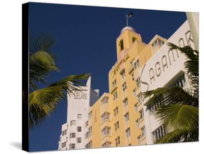 National, Delano, and Sagamore Hotels in Art Deco Style, South Beach, Miami, Florida, USA-Nancy & Steve Ross-Stretched Canvas Print