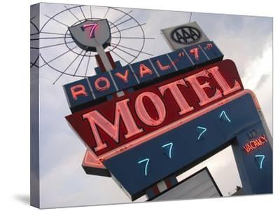 Royal 7 Motel Sign, Bozeman, Montana, USA-Nancy & Steve Ross-Stretched Canvas Print