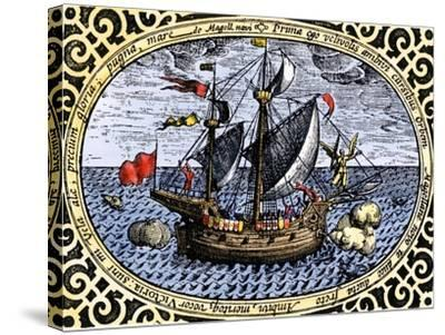 Victoria, One of Magellan's Fleet Which Circumnavigated the Earth, c.1519-1520--Stretched Canvas Print