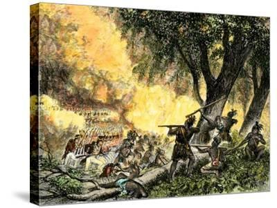 General Wayne's Victory at the Battle of Fallen Timbers, c.1794--Stretched Canvas Print