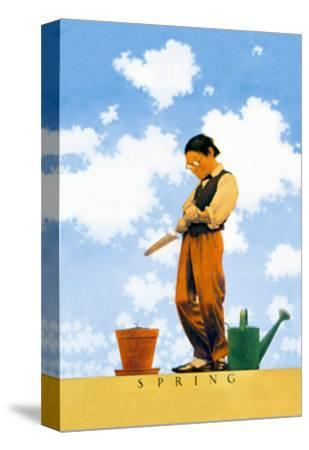 Spring-Maxfield Parrish-Stretched Canvas Print