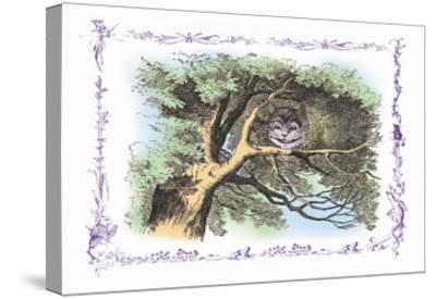 Alice in Wonderland: The Cheshire Cat-John Tenniel-Stretched Canvas Print