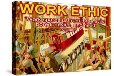Work Ethic--Stretched Canvas Print
