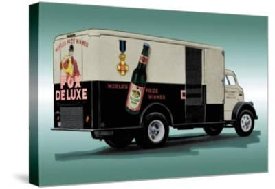 Fox Deluxe Beer Truck--Stretched Canvas Print