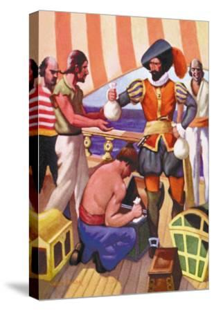 Blackbeard-George Taylor-Stretched Canvas Print
