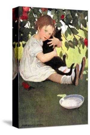 I Love Little Pussy-Jessie Willcox-Smith-Stretched Canvas Print