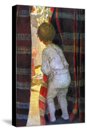 Peeping Into the Parlor-Jessie Willcox-Smith-Stretched Canvas Print