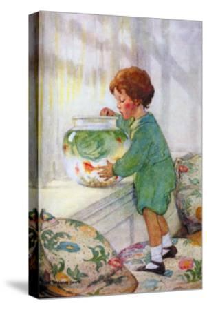 The Goldfish-Jessie Willcox-Smith-Stretched Canvas Print