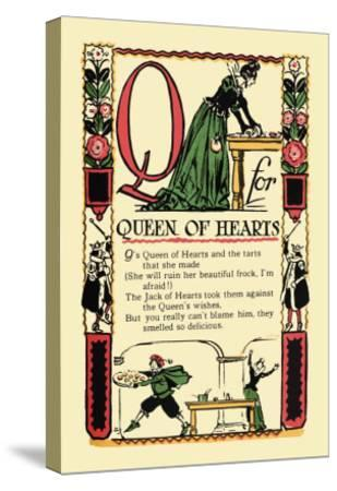 Q for Queen of Hearts-Tony Sarge-Stretched Canvas Print