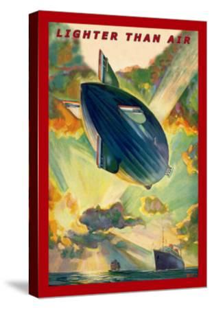 Lighter Than Air: Air Ship Traverses the Ocean--Stretched Canvas Print