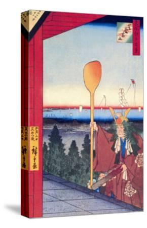 Festival-Ando Hiroshige-Stretched Canvas Print