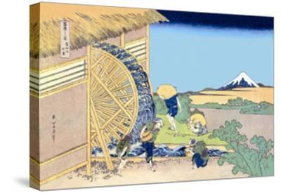 Mill Facing Mount Fuji-Katsushika Hokusai-Stretched Canvas Print