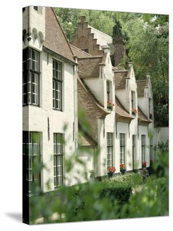 Beguine Houses, Begijnhof (Beguinage), Bruges (Brugge), Belgium, Europe-Ken Gillham-Stretched Canvas Print